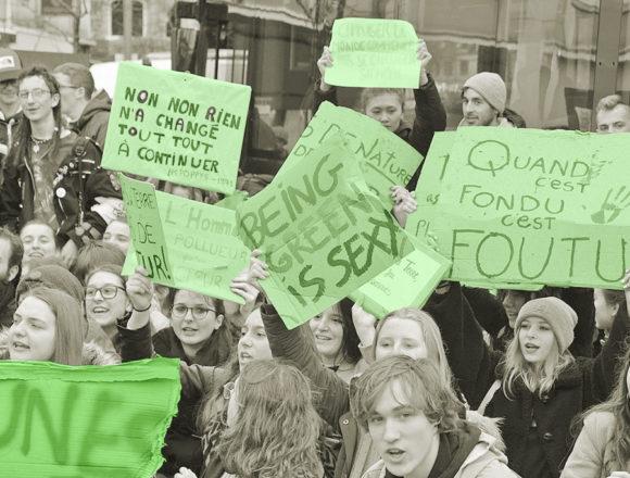 On aime les slogans des jeunes etdesmoinsjeunespourleclimat